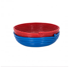 Woven Bowls (set of 2) - Red & Blue