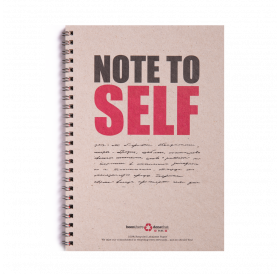 Note Book - Spiral Note To Self - Lined