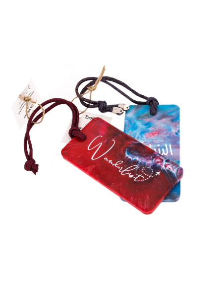 Bag Tag - Red & Blue