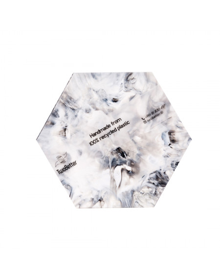 Coasters - Marble Black and White (Set of 4)