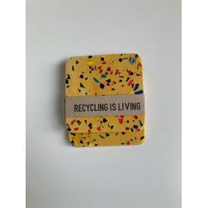 Coasters - Yellow Grey (Set Of 2)