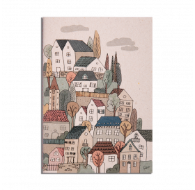 Note Book - Sewn Houses - Lined