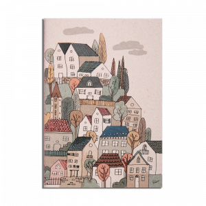 Note Book - Sewn Houses - Line