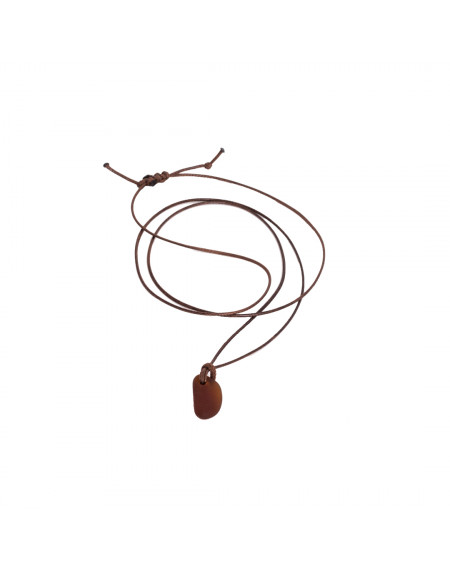 Necklace - Brown Seaglass