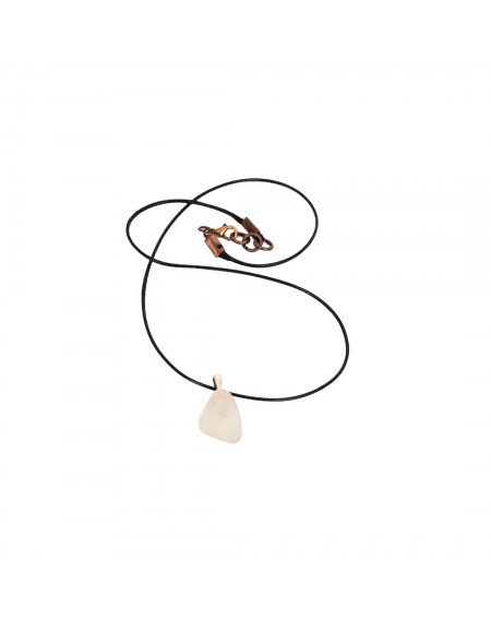 Necklace - White Leaf Seaglass