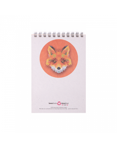 Note Book - Fox - Lined